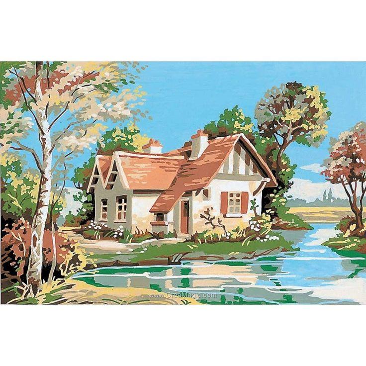 La maison au bord de l'eau canevas chez SEG
