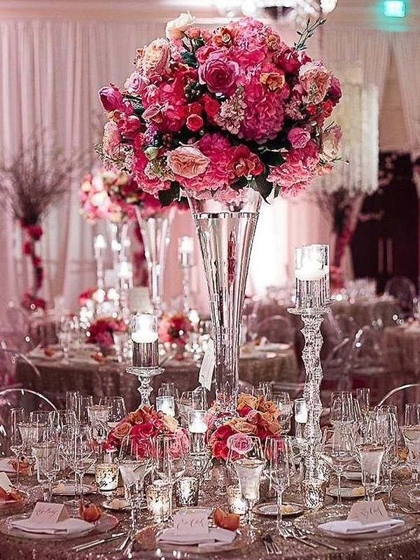 12 Pack 15 Heavy Duty Hour Glass Vase Pink Centerpieces Wedding Centerpieces Wedding Table