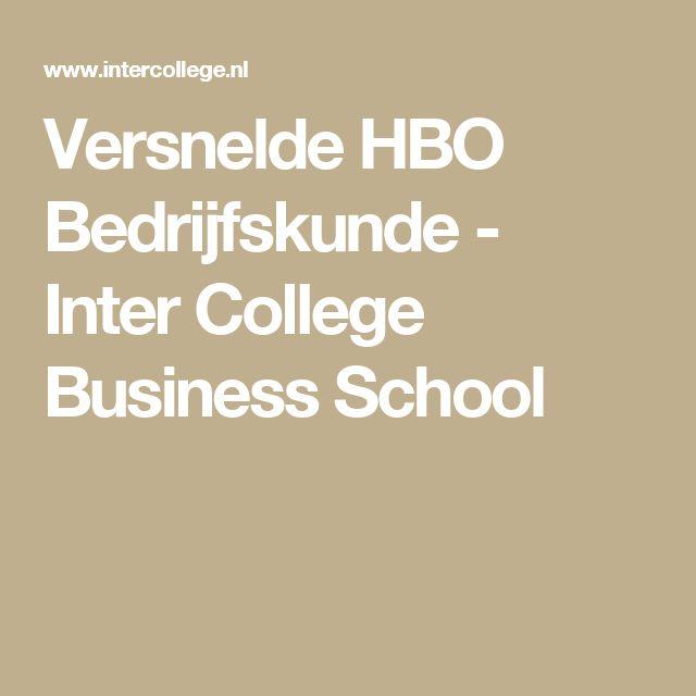 Versnelde HBO Bedrijfskunde -  Inter College Business School
