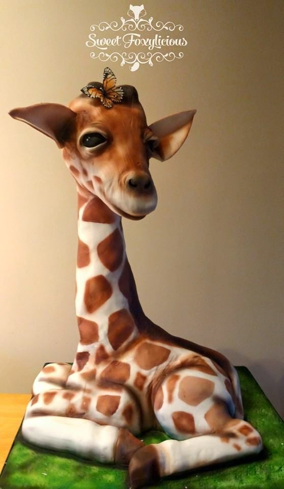 I love this cake, but I love giraffes to much to ever be able to something like this.