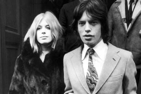 Marianne Faithfull and Mick Jagger: The kind of unmitigated passion that made candy bars shudder.