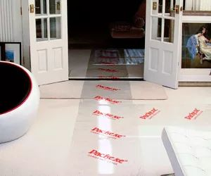 Packexe Carpet protector is an adhesive sheet that can be used on carpets to protect from dirt, moisture, building materials and general wear.