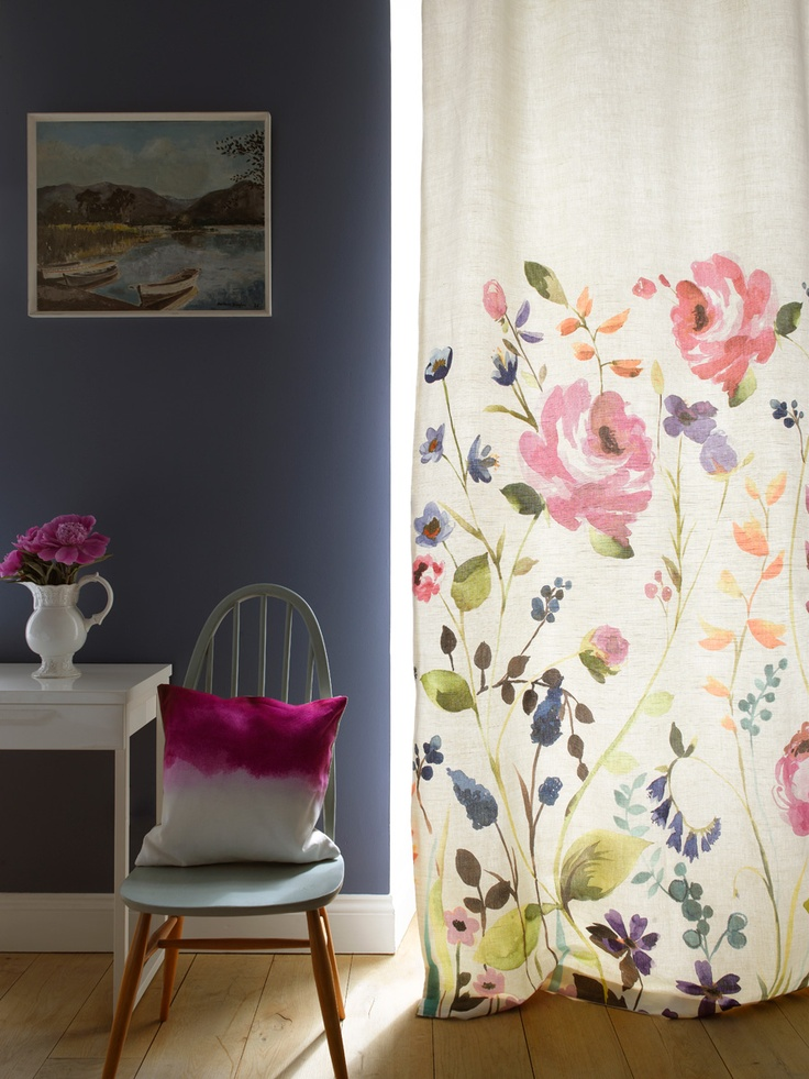 36 best Patterned Curtains images on Pinterest | Living room ...