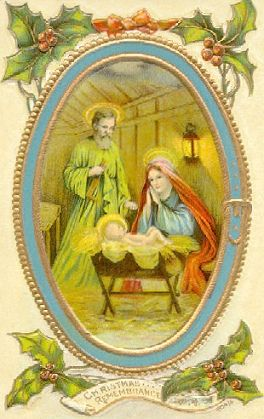 Vintage Nativity Christmas Card Image