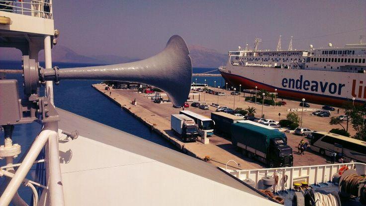#OnBoard at #Patras #harbor