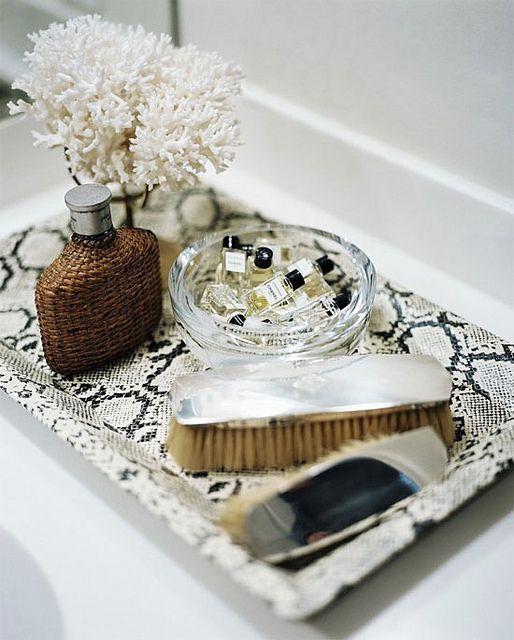 Snakeskin tray
