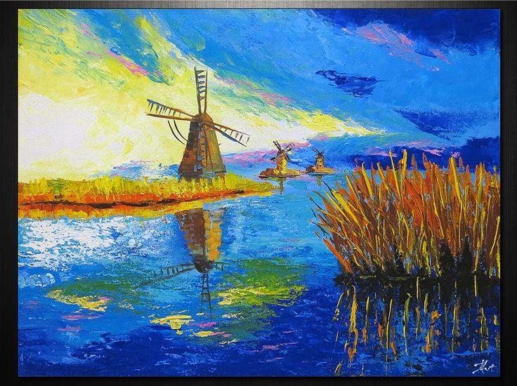 100% kézzel festett vászonképek. Szélkerék dekor festmény, cikkszám: 6288 www.ovardesign.hu