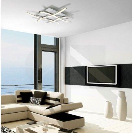 Πλαφονιέρα φωτιστικό οροφής LED NUR 4984 ακρυλικό ασημί