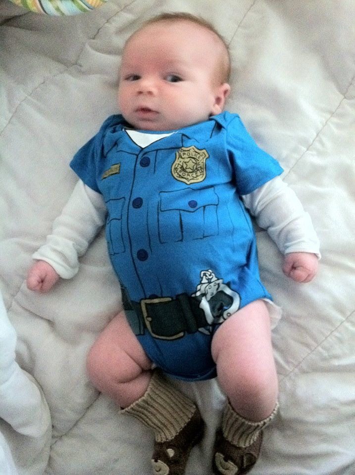 Cute little cop! Where was this when my little men were small enough to fit!