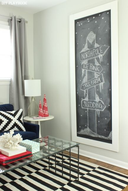 How to DIY a large chalkboard on a budget.