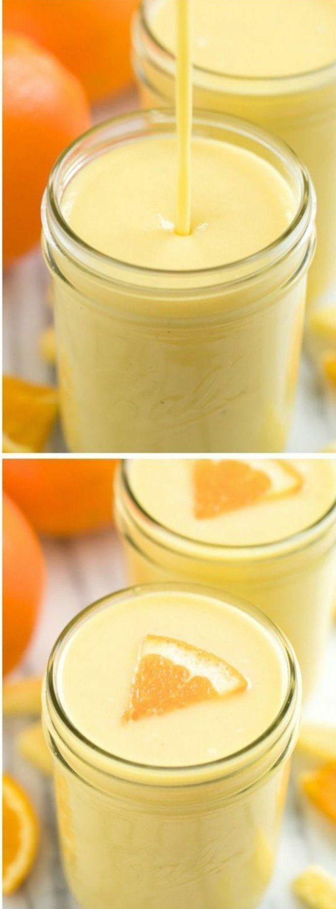 une recette de smoothie très rafraîchissant et simple à réaliser, smoothie aux oranges et à l ananas