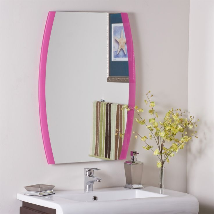 Decor Wonderland SSM439 Paula's Pink Frameless Wall Mirror