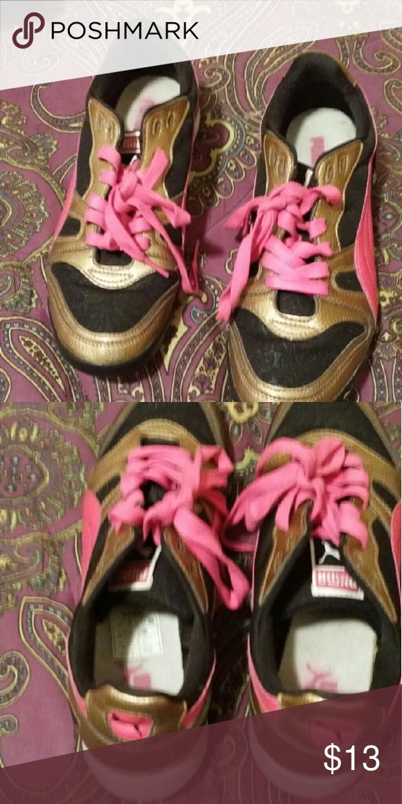 Casual puma tennis shoes Brown and pink tennis shoes Puma Shoes Athletic Shoes
