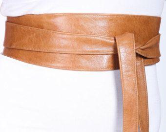 Distressed Tan Brown Leather Obi Belt Western Belt Womens Leather Belt Bridesmaid Belt Tan Belt gift for her corset obi belt