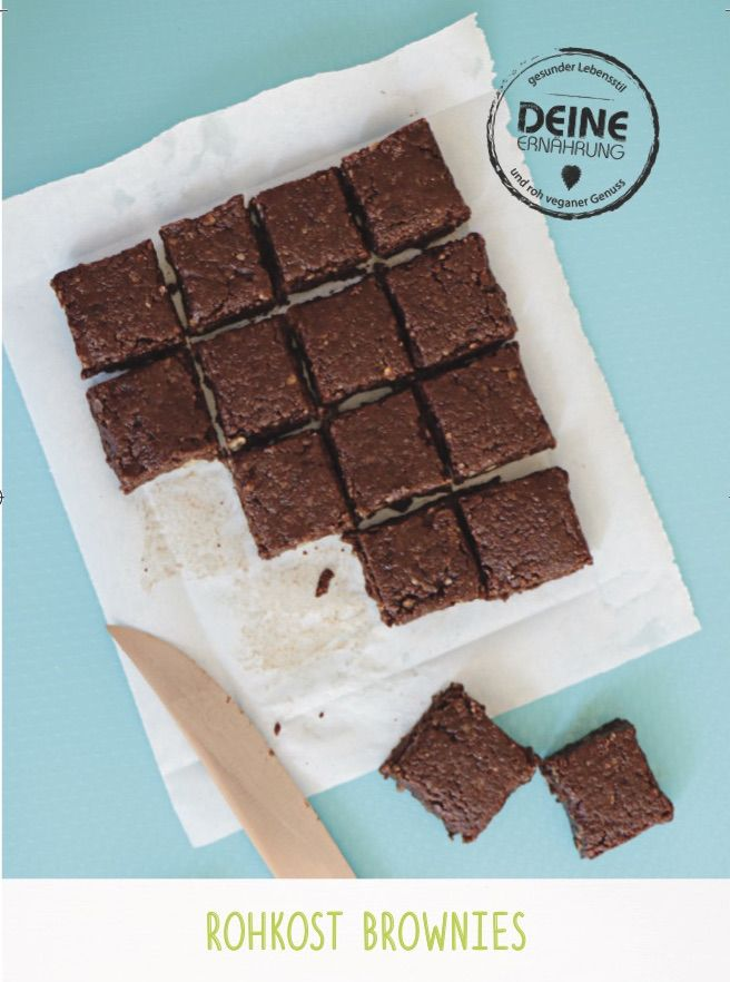Rohkost Brownies saftig, schokoladig, lecker