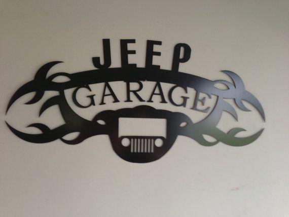 Jeep GARAGE SIGN by SCHROCKMETALFX on Etsy, $40.00