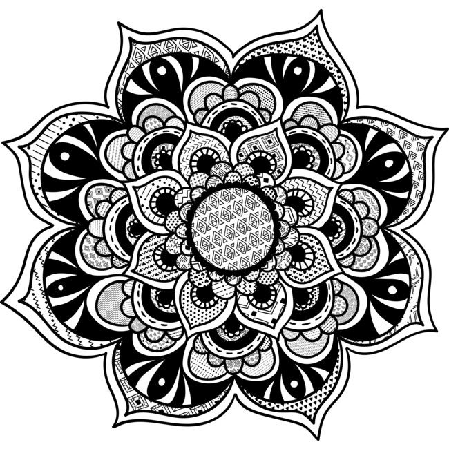 Mandala VII - Tribal is a Sticker designed by alegomez to illustrate your life and is available at Design By Humans