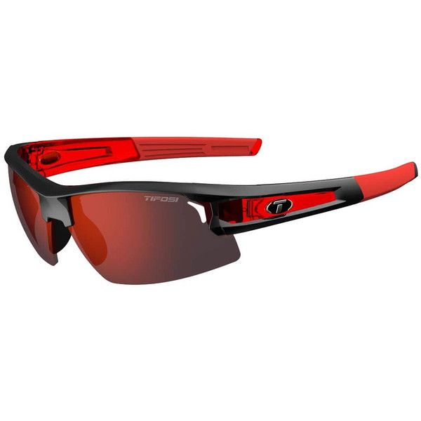 Tifosi Sunglasses - Synapse - Race Red w/ Clarion Red/AC Red/Clear... ($72) ❤ liked on Polyvore featuring accessories, eyewear, sunglasses, red sunglasses, red lens sunglasses, tifosi glasses, lens glasses and tifosi