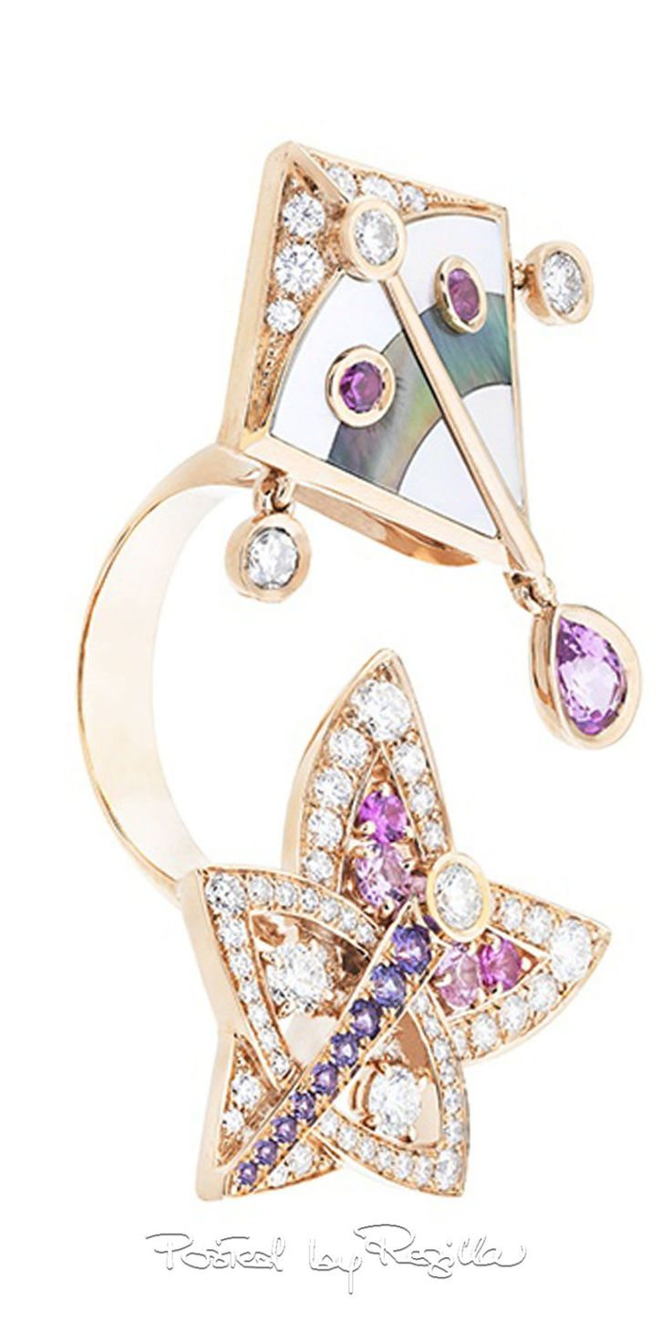 Van cleef amp arpels vca 18k yellow gold ruby cabochon amp diamond - Regilla Van Cleef Arpels The New Collection Cerfs Volants
