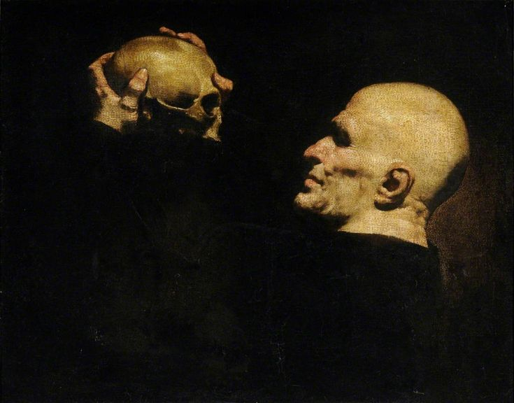Man with a Skull - Jusepe de Ribera. Date: 1630–1640, oil on canvas. 68 x 87 cm.