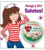Hungry Girl -  Salutes The Laughing Cow (35 calories a wedge) *tips about the product  and where to find in the grocery store and ways to use.