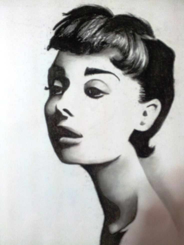 Audrey Hepburn - one of my first charcoal drawings with hard lines or edges which proves likewise.