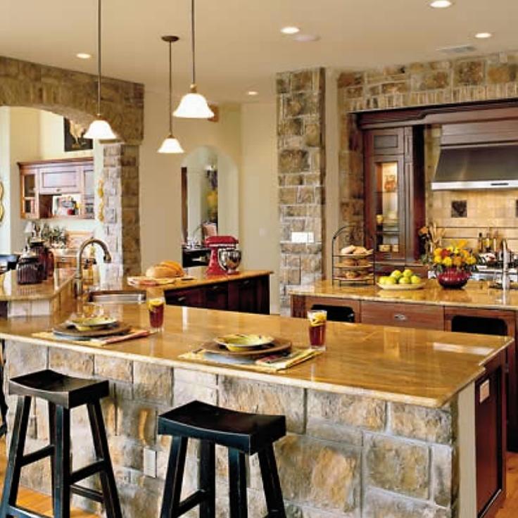 stone kitchen: Decor, Interior, House Ideas, Dream House, Kitchen Design, Stone, Kitchen Ideas, Dream Kitchens
