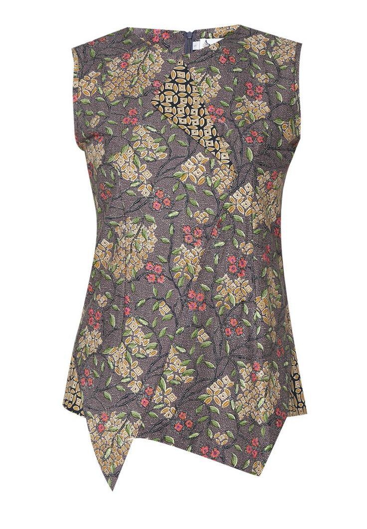 ASANA Flower Printed Batik Sleeveless Top I Beli di ZALORA Indonesia ®