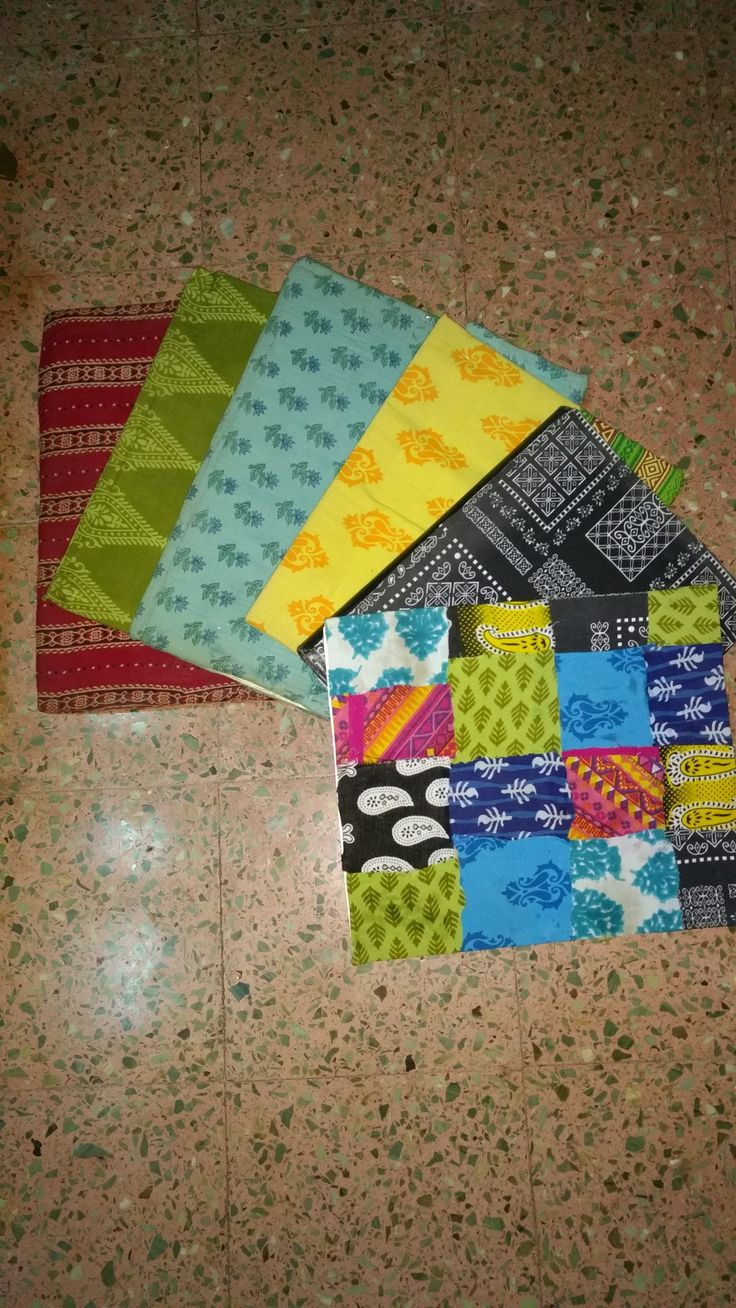 Discarded fabric used to make folders and journal covers...