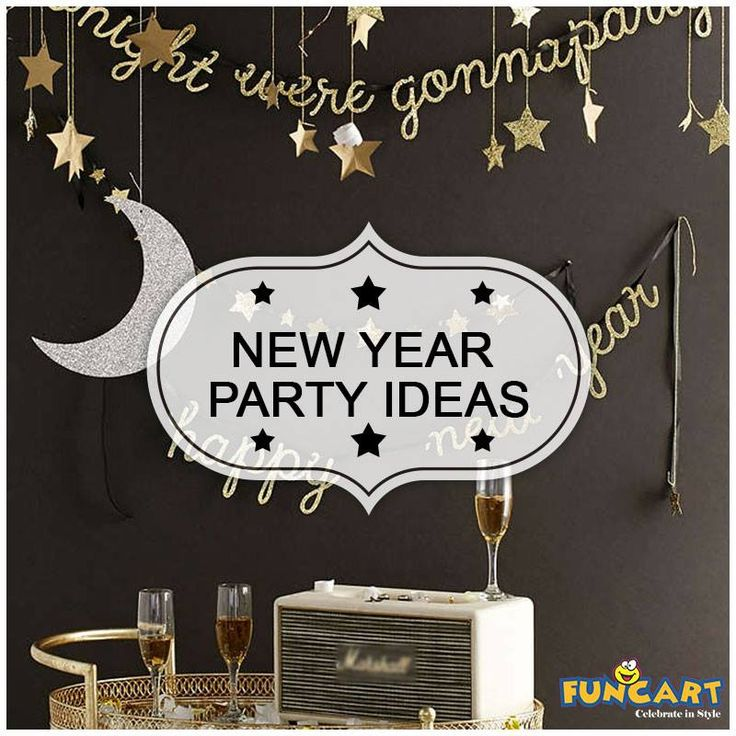 Meri Meri Moon And Star Hanging Decorations for new year party. www.funcart.in #Funcart #Party #Theme #NewYear #PartyIdeas