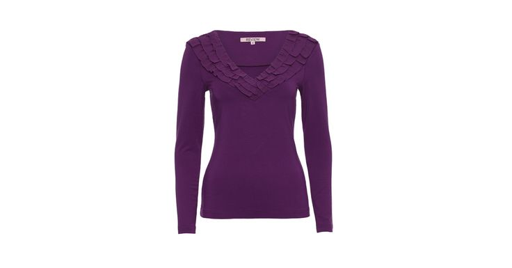 Margo Frill Long Sleeve Top Wine   Tops   Review Australia