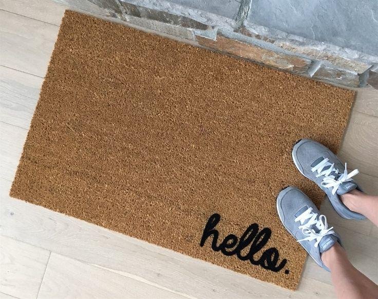 hello door mat fadeproof