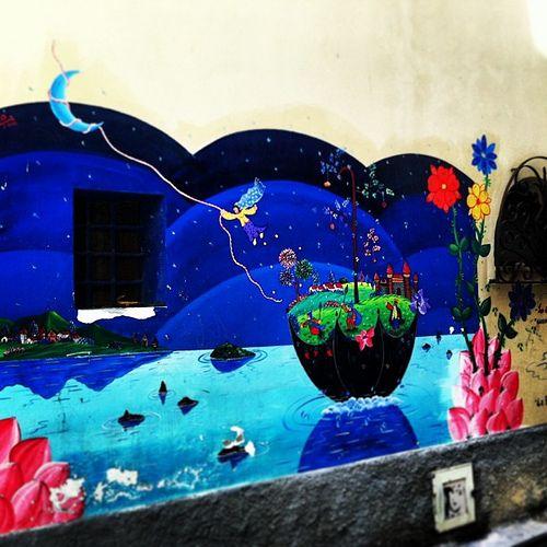 Prendere la luna murales Diamante Calabria   #TuscanyAgriturismoGiratola