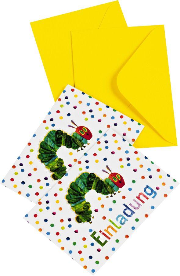 Diese süßen Raupe Nimmersatt Einladungen sind perfekt für alle diejenigen die keine Zeit oder Lust haben eine DIY Einladung für einen Kindergeburtstag zu gestalten. Die süßen Geburtstagseinladungen findet ihr bei www.party-princess.de Die kleine Raupe Nimmersatt - The little caterpillar - The very hungry caterpillar