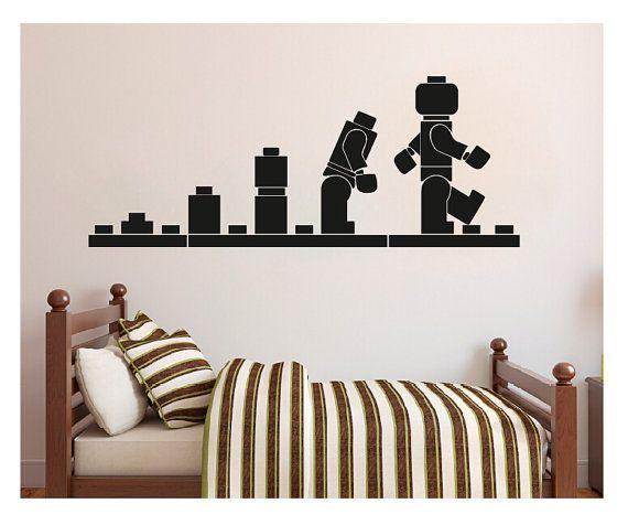 lego wall decal evolution decal wall sticker home decor art vinyl stencil kids rooms wall art