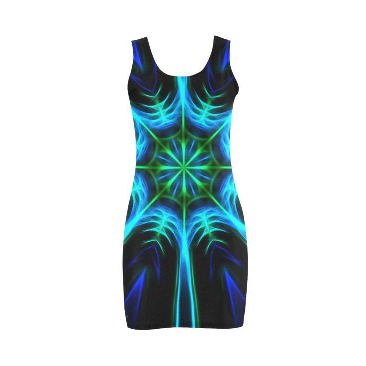 Blue Kaleidoscope Medea Vest Dress (Model D06) by Tracey Lee Art Designs