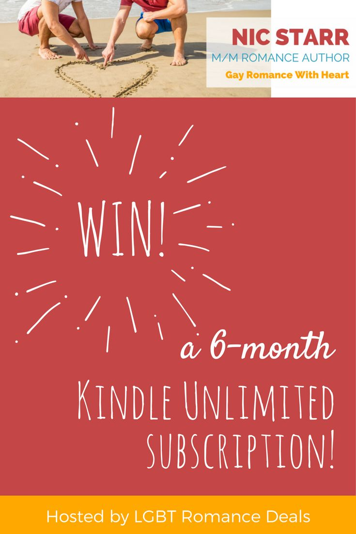 Enter to win a 6-month Kindle Unlimited subscription! #gayromance #mmromance