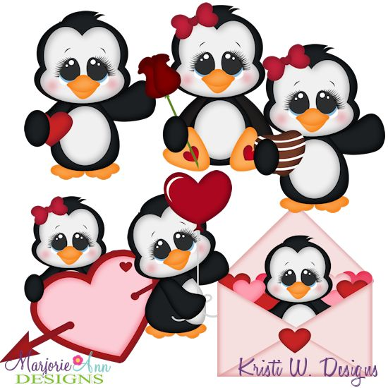 Valentine Penguins SVG-MTC-PNG plus JPG Cut Out Sheet(s) Our sets also include clipart in these formats: PNG & JPG