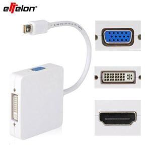 Nouvelle arrivée 3 en 1 Mini DP DisplayPort vers HDMI / DVI / VGA câble adaptateur de port d'affichage pour Apple MacBook Pro Air iM