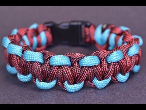 "DIY the ""Sidewinder"" Paracord Survival Bracelet How To - BoredParacord - YouTube"