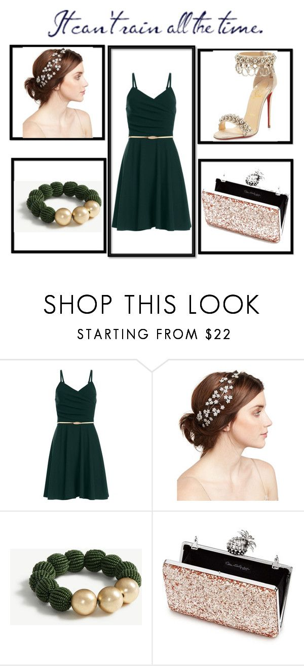 """Bez naslova #2"" by amina-delic321 ❤ liked on Polyvore featuring Jennifer Behr, Ann Taylor, Miss Selfridge and Christian Louboutin"