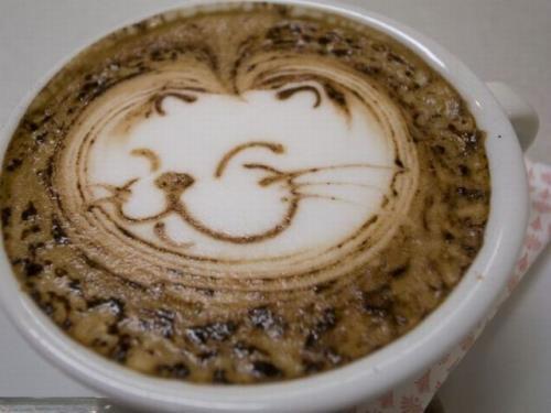 adorable! Looks like Bunny the cat🐰: Cat Art, Latte Art, Catart, Art Design, Coffee Art, Art Wall, Art Pieces, Memorial Art, Latteart