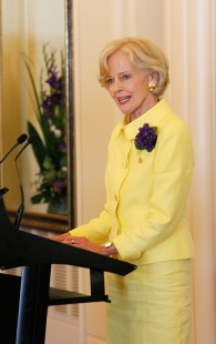 State Occasion - Brightly coloured well cut suit with feminine details - Quentin Bryce