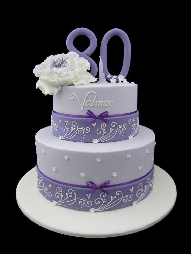 1000+ ideas about 80th Birthday Cakes on Pinterest ...