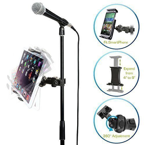 Universal Microphone Mic Stand Mount Phone for Holder iPhone Samsung Ipad Tablet #AccessoryBasics