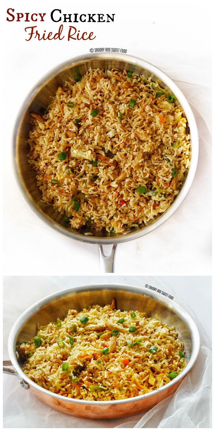 A spicy and flavour packed chicken fried rice.