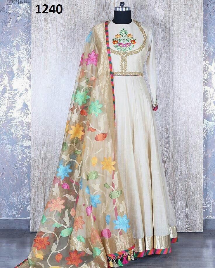 White Embroidered Suit With Beautiful Flower Printed Dupatta  Product Info : Code : 1240 TOP - COTTON  BOTTOM - SANTOON  DUPATTA - NET PRINTED  Price : 1650 INR Only ! #Booknow  World Wide Shipping Available !  PayPal / WU Accepted  C O D Available In India ! Shipping Charges Extra  Stitching Service Available  To order / enquiry  Contact Us : 91 9054562754 ( WhatsApp Only )  #ghagracholi #streetwear #fashionable #ootdmagazine #fashions #love #fashionblogger #anarkalidresses…