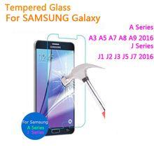 Vidro temperado para samsung galaxy j1 j2 j3 j5 j7 a3 A5 2016 A7 A9 J120F J320F J510F J710F Protetor de Tela de Proteção filme alishoppbrasil