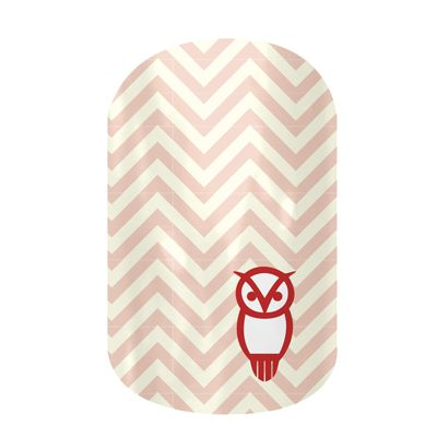 Chi O Owl nail wraps by Jamberry Nails #sorority #greek #nailart #nails #nailwraps #ChiO #chiomega #owl