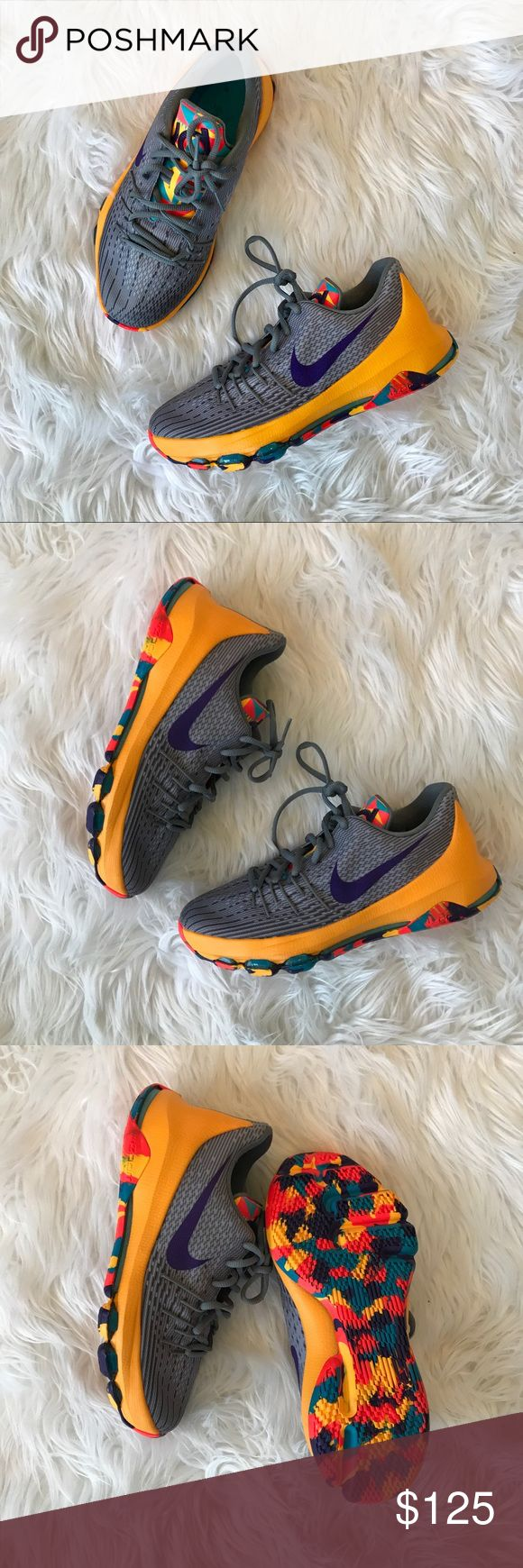 • Nike • Kevin Durant Zoom Basketball Shoes 5.5 - Nike - Kevin Durant  - Zoom Sneakers - Running Shoes - Basketball Shoes - Orange, Gray, Purple, Blue - New without Box - Size 5.5 Nike Shoes Sneakers
